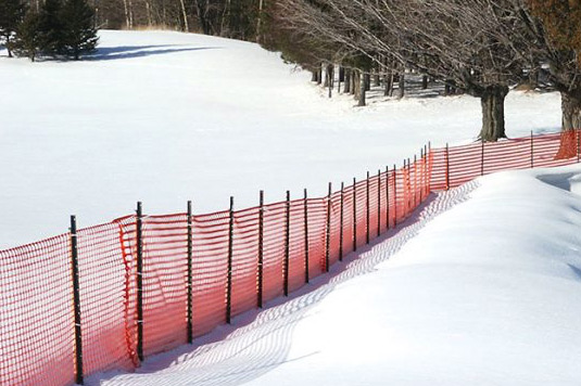 Snow fence orange